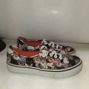 Vans ASPCA Cats Design Shoes Women's sz 5